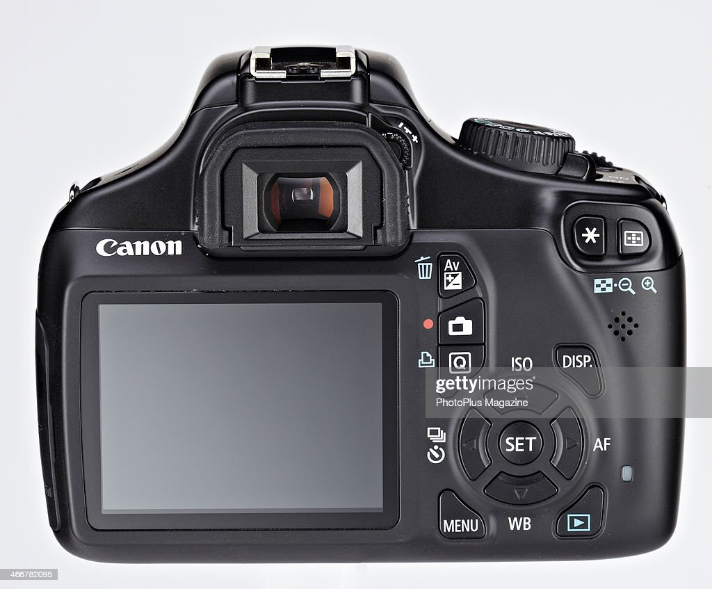 Detail Of The Lcd Screen On A Canon Eos 1100d D Slr Camera Taken Test Product Shoot News Photo