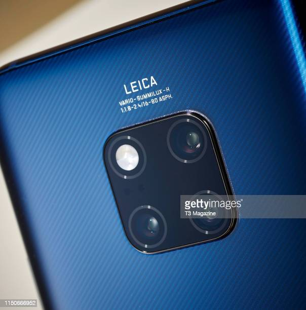 Detail of the Leica camera on a Huawei Mate 20 Pro smartphone taken on November 6 2018