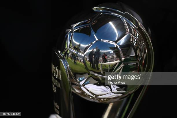Detail of the Liga MX championship trophy prior the final second leg match between Cruz Azul and America as part of the Torneo Apertura 2018 Liga MX...