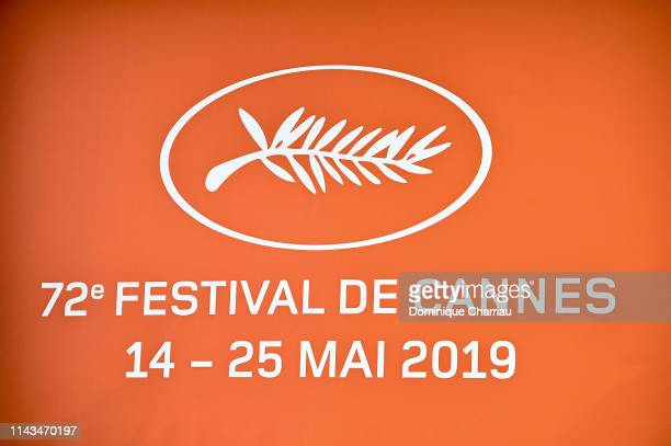 A detail of the logo for the 72th Cannes Film Festival at the 72th Cannes Film Festival Official Selection Presentation At UGC Normandie In Paris on...