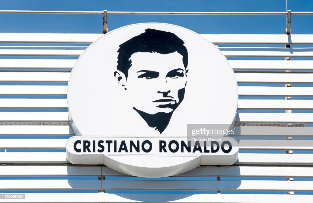 Detail of the logo of the airport after the ceremony at Madeira Airport to rename it Cristiano Ronaldo Airport on March 29, 2017 in Santa Cruz, Madeira, Portugal.