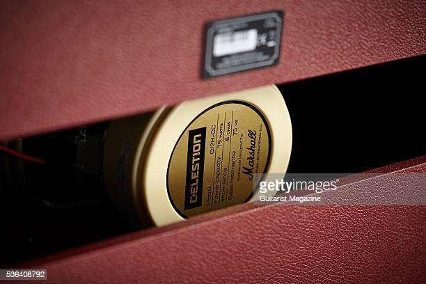 Detail of the loudspeaker in a Marshall Astoria Custom amplifier head taken on September 16 2015