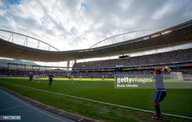 Detail of the match between Cruzeiro and Fluminense as part of Serie A 2012 at Engenhao stadium on November 18, 2012 in Rio de Janeiro, Brazil.