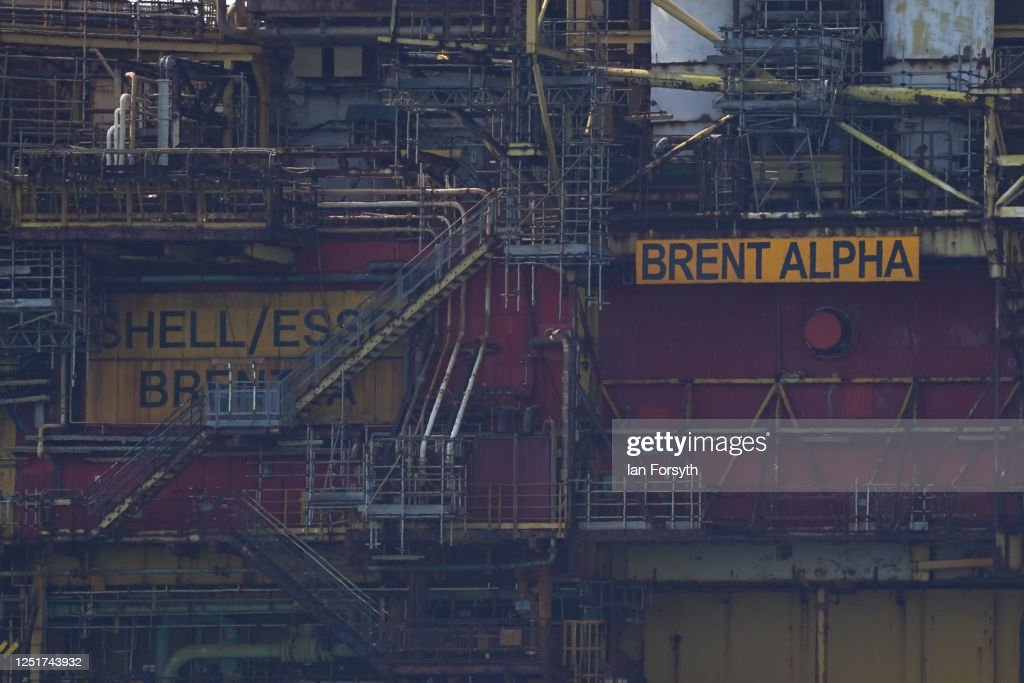 Decommissioned Brent Alpha Oil Platform Arrives In Teesside : News Photo