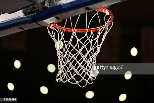 A detail of the net and basket prior to the Georgetown Hoyas playing against the Cincinnati Bearcats during the quaterfinals of the Big East Men's...