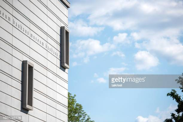 detail of the new bauhaus museum, weimar, germany - bauhaus art movement stock pictures, royalty-free photos & images