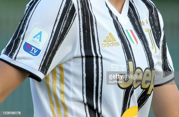 Detail of the new Juventus jersey during the Women Serie A match between Hellas Verona and Juventus at Sinergy Stadium on August 22, 2020 in Verona,...