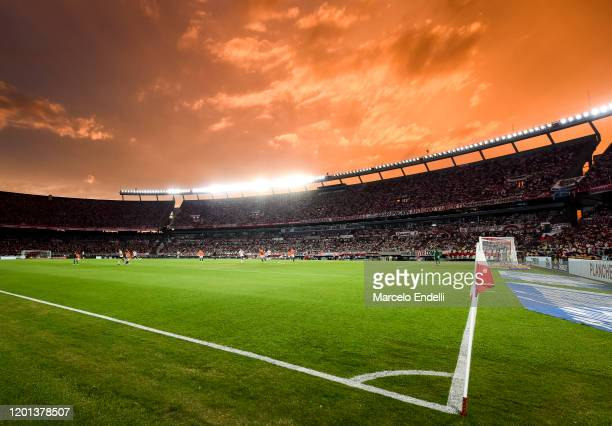 Detail of the new lightning system during a match between River Plate and Banfield as part of Superliga 2019/20 at Antonio Vespucio Liberti Stadium...
