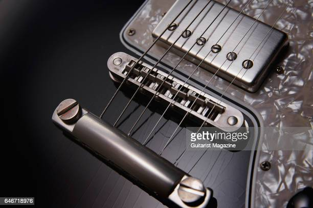 Detail of the Nickel TonePros tune-o-matic bridge and stud tailpiece