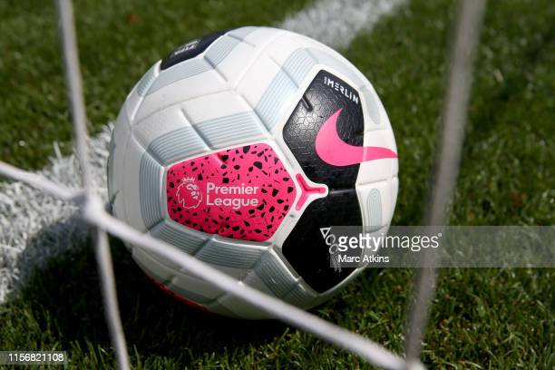 Detail of the Nike Merlin Premier League match ball during the PreSeason Friendly match between Brighton and Hove Albion and Fulham at EBB Stadium on...