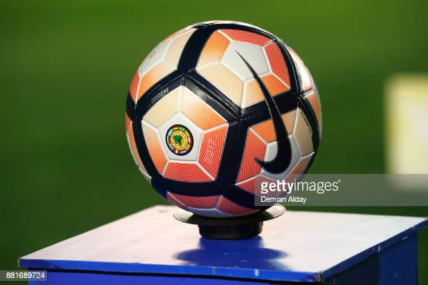 Detail of the official ball prior a second leg match between Independiente and Libertad as part of the semifinals of Copa CONMEBOL Sudamericana 2017...