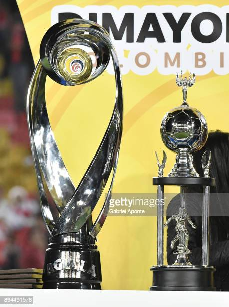 Detail of the official trophy prior the second leg match between Millonarios and Santa Fe as part of the Liga Aguila II 2017 Final at Nemesio Camacho...