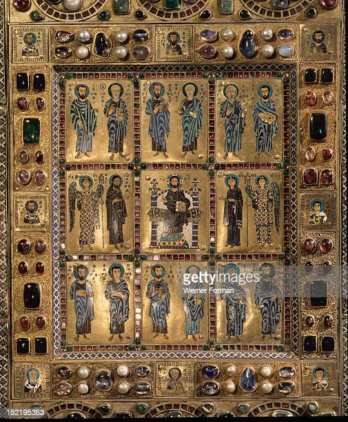 Detail of the outer container of a reliquary of the True Cross one of the rich est and most elaborate ensembles of Byzantine enamels to have survived...