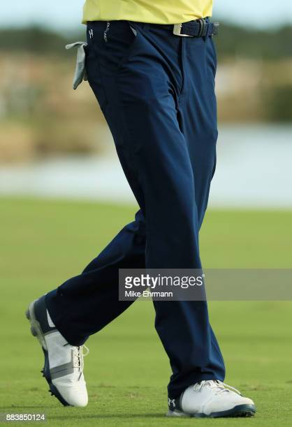 A detail of the pants of Jordan Spieth of the United States during the second round of the Hero World Challenge at Albany Bahamas on December 1 2017...