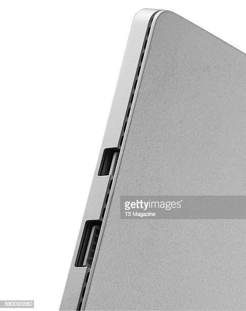 Detail of the ports on a Microsoft Surface Pro 4 tablet taken on December 14 2015
