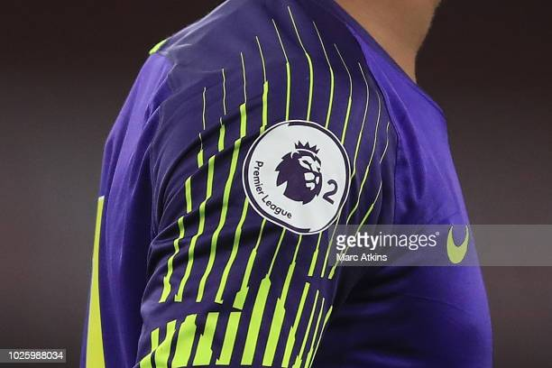 Detail of the Premier League 2 logo during the Premier League 2 match between Arsenal and Tottenham Hotspur at Emirates Stadium on August 31 2018 in...