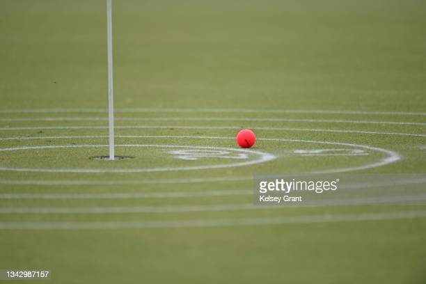 Detail of the putting green scoring rings during the 2021 Drive, Chip and Putt Regional Qualifier at TPC Scottsdale on September 26, 2021 in...