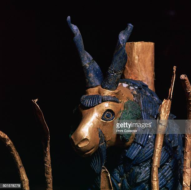 Detail of the 'Ram in a Thicket' from Ur southern Iraq c2600c2400 BC One of an almost identical pair discovered by Leonard Woolley in the 'Great...