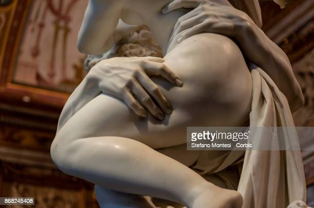 Detail of 'The Rape of Proserpina' of the artist Gian Lorenzo Bernini on October 30 2017 in Rome Italy On the occasion of the twentieth anniversary...
