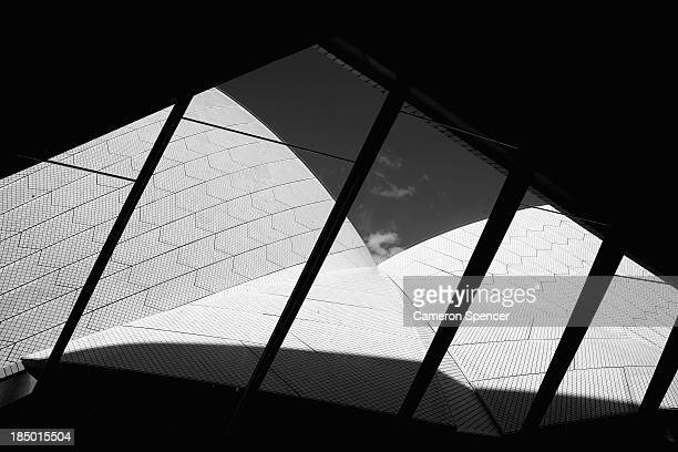 Detail of the Sails over the Joan Sutherland Theatre at the Sydney Opera House on September 20 2013 in Sydney Australia On October 20 2013 the iconic...