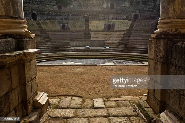 Detail of the scene. Merida Roman Theatre