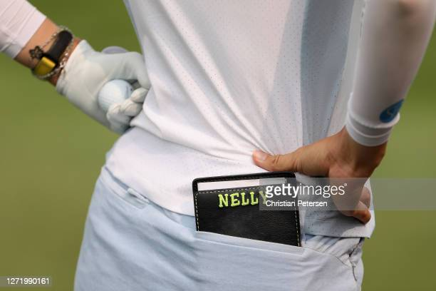 Detail of the scorebook for Nelly Korda during the second round of the ANA Inspiration on the Dinah Shore course at Mission Hills Country Club on...