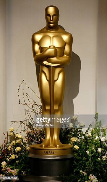 Detail of the set before the 79th Academy Awards Nominations at the Samuel Goldwyn Theater on January 23, 2007 in Beverly Hills, California.
