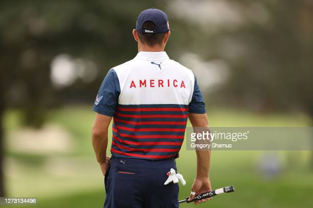 Detail of the shirt of Gary Woodland of the United States during the first round of the 120th U.S. Open Championship on September 17, 2020 at Winged...