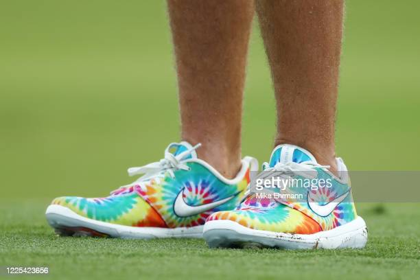 A detail of the shoes of Matthew Wolff of the CDC Foundation team during the TaylorMade Driving Relief Supported By UnitedHealth Group on May 17 2020...