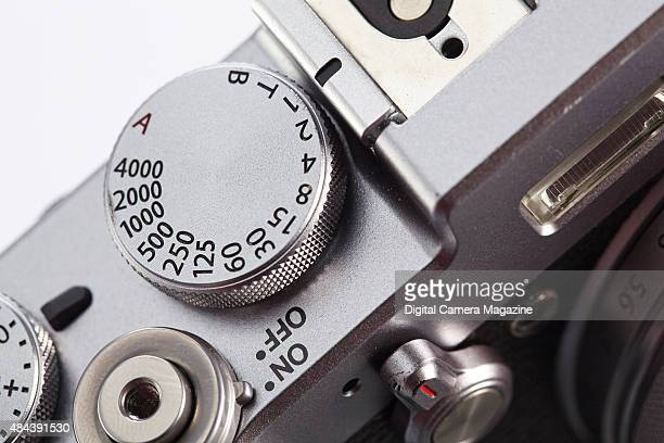 Detail of the shutter speed dial on a Fujifilm X100T compact system digital camera taken on December 12 2014