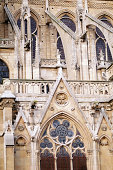 Detail of the South Facade at Notre Dame Cathedral; Paris, France.