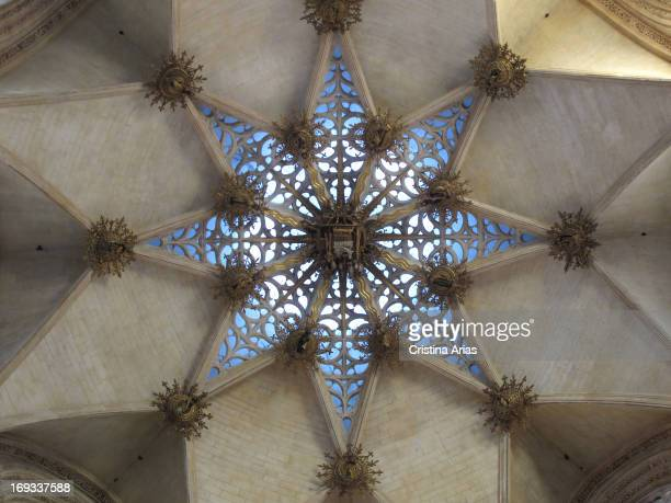 Detail of the starry vault that covers the Chapel of the Constables in the cathedral of Burgos made by the burgalés architect Simon de Colonia in...