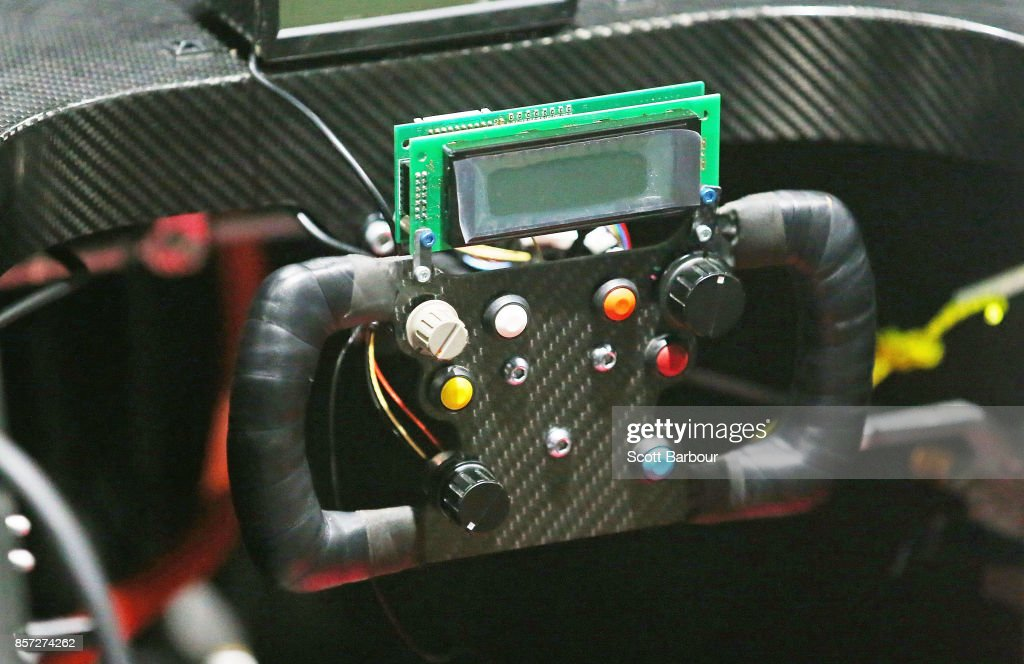 A detail of the steering wheel as Tokai Challenger, the car from Japans Tokai University is tested during Static Scrutineering before competing in the Challenger class ahead of the 2017 Bridgestone World Solar Challenge on October 4, 2017 in Darwin, Australia. Teams from across the globe are competing in the 2017 World Solar Challenge - a 3000 km solar-powered vehicle race through the Australian Outback between Darwin and Adelaide. The race attracts teams from around the world, most of which are fielded by universities or corporations although some are fielded by high schools. The race has a 30-year history spanning thirteen races, with the inaugural event taking place in 1987. The race begins on October 8th with the first car expected to cross the finish line on October 11th.
