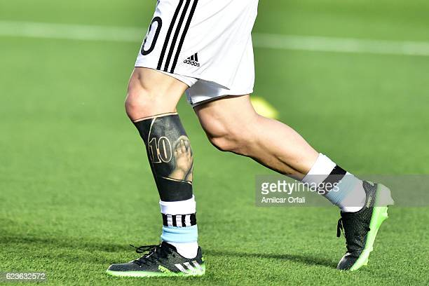 Worlds Best Lionel Messi Tattoo Stock Pictures Photos And