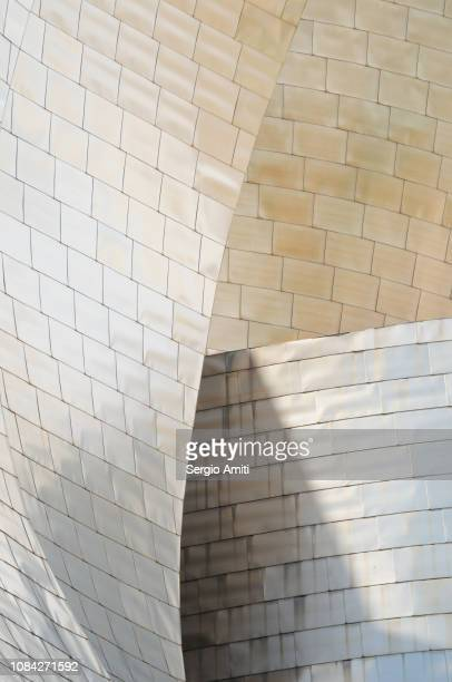Detail of the the Guggenheim Museum in Bilbao