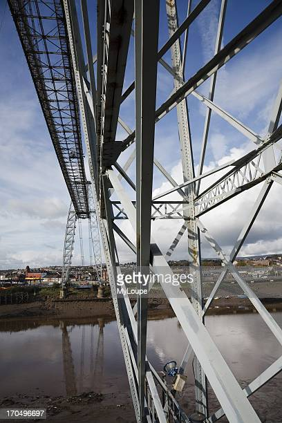 Detail of The Transporter Bridge Newport Monmouthshire South Wales United Kingdom