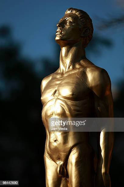 Detail of the trophy of 2010 Ariel Awards during the ceremony at Sala Nezahualcoyotl on April 13 2010 in Mexico City Mexico Ariel Awards is...