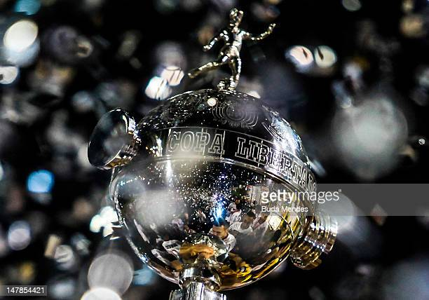 Detail of the Trophy Santander Libertadores in the second leg of the final of the Copa Libertadores 2012 between Boca Juniors of Argentina and...
