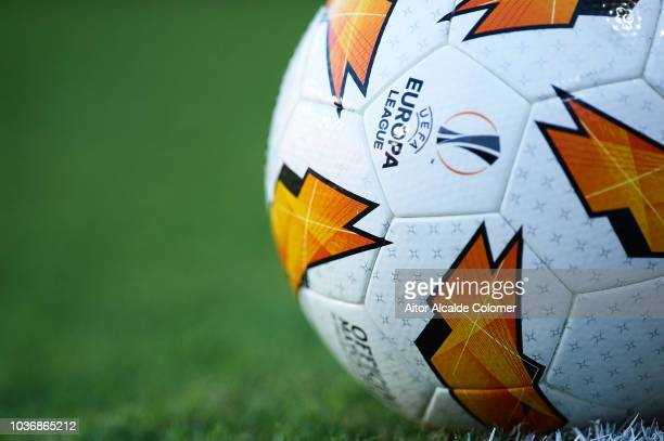 Detail of the UEFA Europa League ball during the UEFA Europa League Group J match between Sevilla and Royal Standard de Liege at Estadio Ramon...