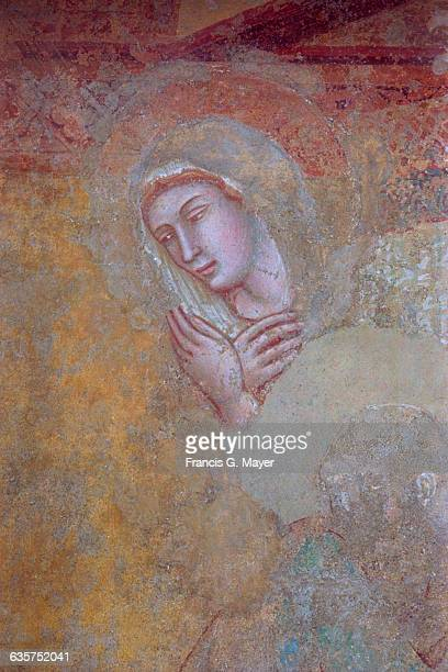 Detail of the Virgin from The Annunciation by Ambrogio Lorenzetti