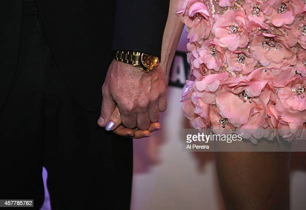 Detail of their hands when Dr. Rutledge Taylor accompanies Debbie Gibson when she is inducted into the Long Island Music Hall of Fame when she...