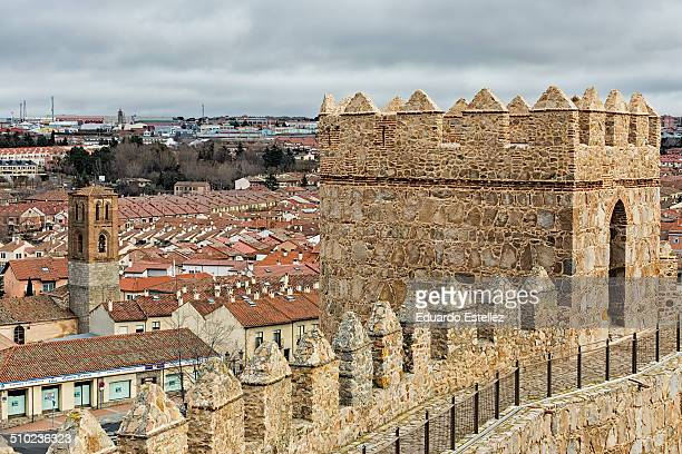 Detail of these famous walls in Avila Spain