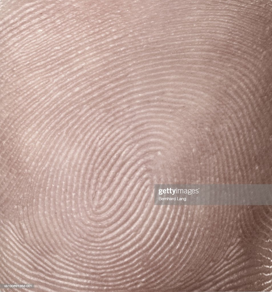 Detail of thumbprint (digital composite) : Stockfoto