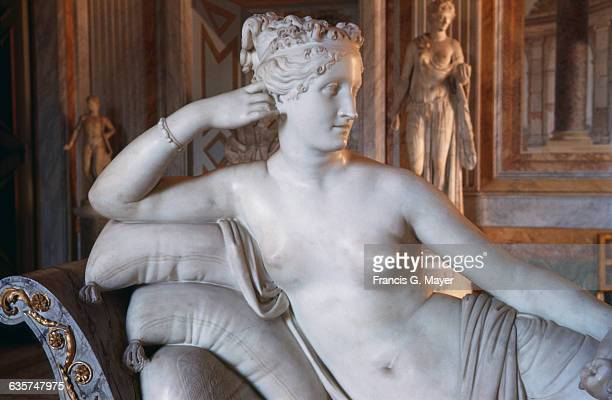 Detail of Upper Body of Paolina Borghese as Venus Victrix by Antonio Canova