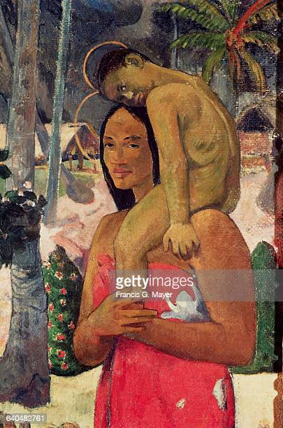 Detail of Virgin and Child from Ia Orana Maria by Paul Gauguin
