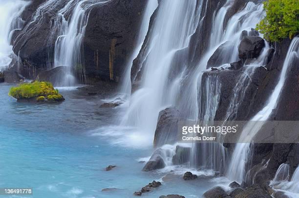 Detail of Waterfall Hraunfossar