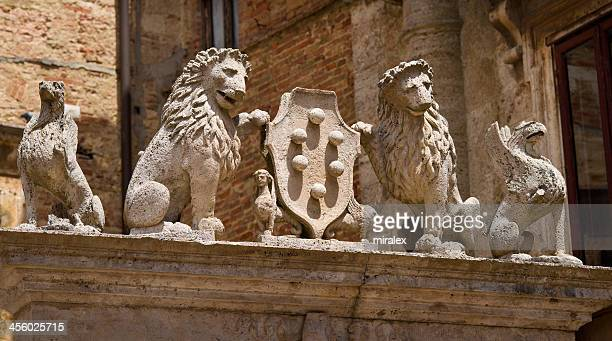 Detail of Well on Piazza Grande in Montepulciano, Tuscany