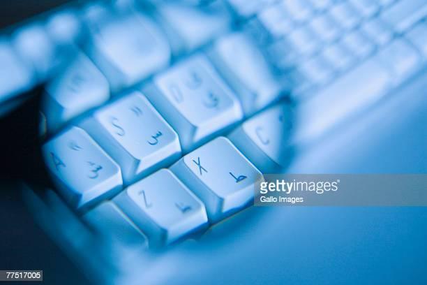 Detail of White Arabic Keyboard. Dubai, United Arab Emirates