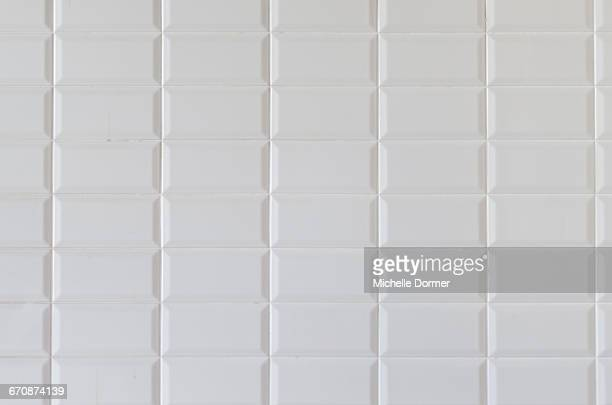 Detail of white tiled wall, Johannesburg, South Africa.
