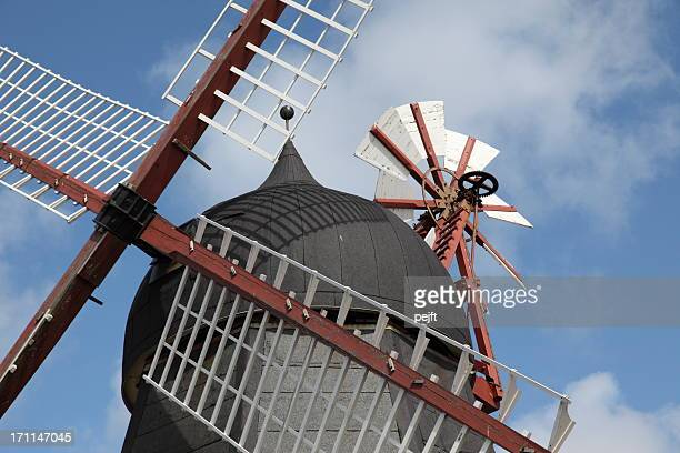 detail of windmill dating from the 19th century - pejft stock pictures, royalty-free photos & images